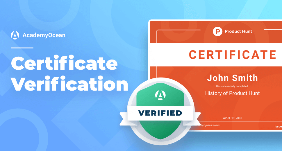 ProductHunt Academy certificate verification