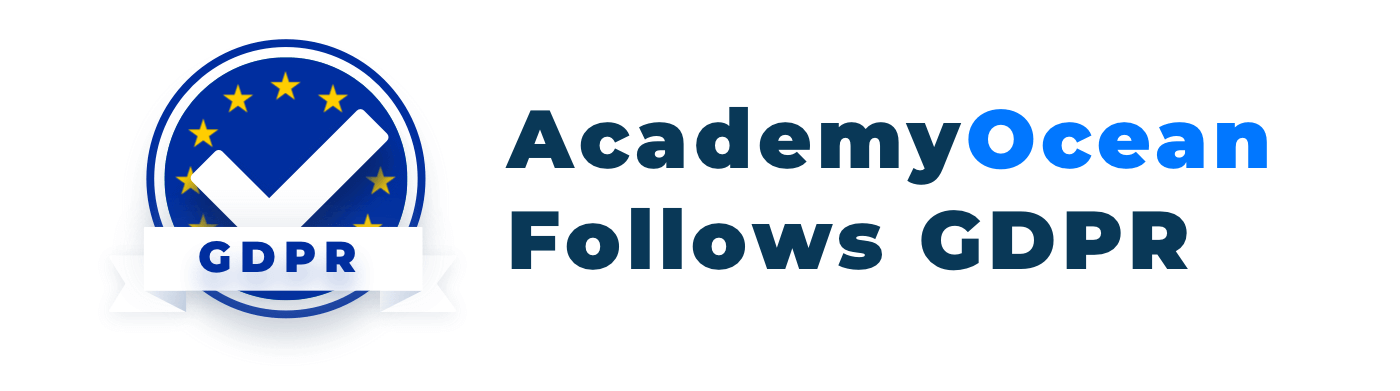 AcademyOcean follows GDPR
