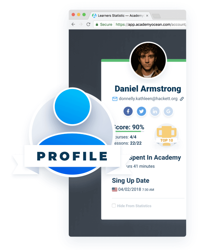 Learner Profile page