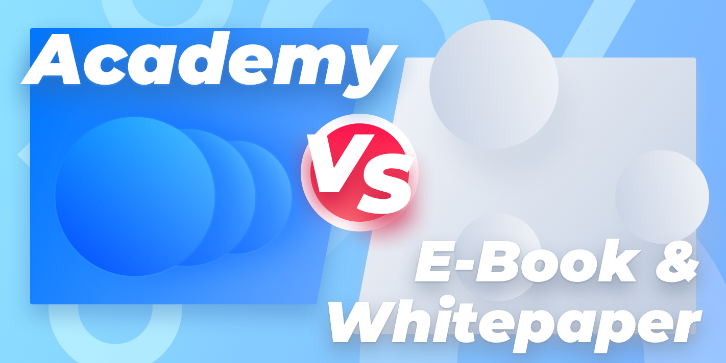 Academy vs e-book and knowledge base